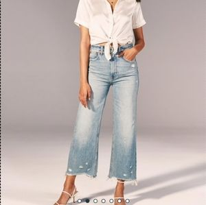 Nwt abercrombie and fitch   wide leg jeans